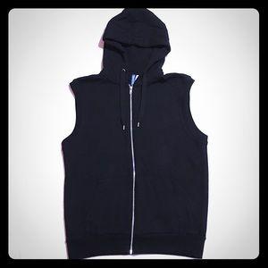 H&M Divided Sleeveless Hooded Zip-up Sweatshirt M